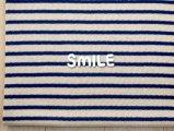 (SALE)ダブルフェイスカラーボーダー/ブルー