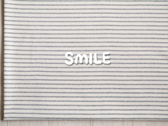 (SALE)20/2天竺ボーダー/生成×グレー