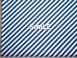 (ミニカット)幅広スパンフライス/ななめストライプ/ブルー