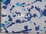 オーガニックコットンTOP杢ミニ裏毛/スプラッシュ/グレー×ネイビー