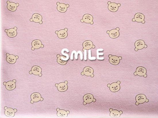 40/コーマスムース/SMILEくま/ピンク