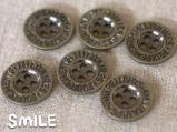 [ボタン]デニムボタン アルファベット 18mm/6個