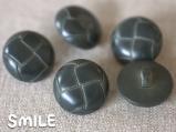 [ボタン]レザー調ボタン ダークグリーン 15mm/6個
