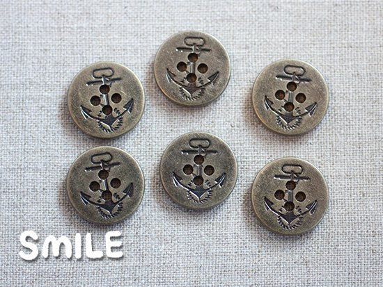 [ボタン]デニムボタン イカリ 18mm/6個