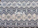 SMILEくまジャガード/ネイビー