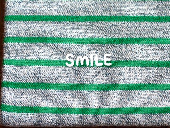サーフボーダー/ブルー杢×グリーンライン