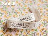 SMILE布タグ/横長タイプ6枚(3種類x2)