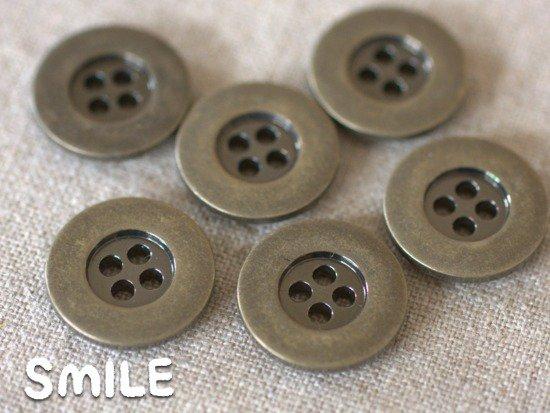 [ボタン]デニムボタン 4つ穴 21mm6個