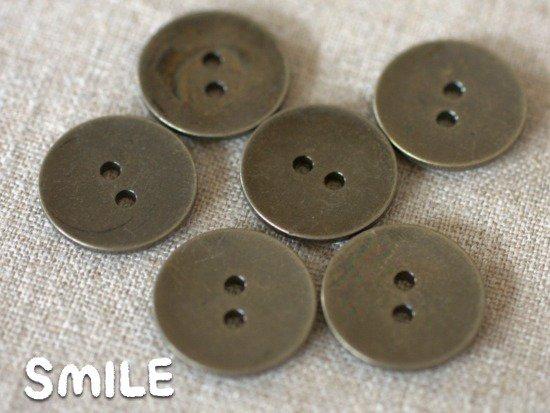 [ボタン]デニムボタン 2つ穴 21mm6個
