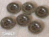 [ボタン]デニムボタン アルファベット 21mm/6個