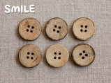 [ボタン]ココナッツ4つ穴 21mm/6個