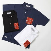 <img class='new_mark_img1' src='https://img.shop-pro.jp/img/new/icons20.gif' style='border:none;display:inline;margin:0px;padding:0px;width:auto;' />【PROJECT SR'ES】ANOTHER FABRIC POCKET POLO(バンダナポケット付きボタンダウンポロシャツ)