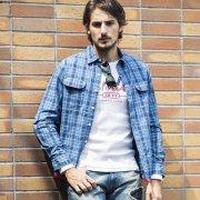 【PROJECT SR'ES】INDIGO CHECK SHIRT(インディゴ染めチェックシャツ)