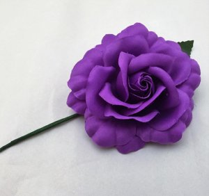 フラメンコ用薔薇  紫