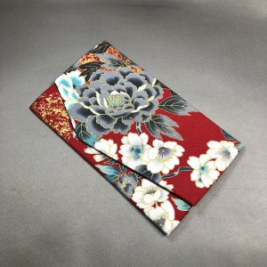 ◆慶弔両用◆牡丹と桜の袱紗 赤系