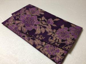 ◆慶事用両面袱紗◆豪華絢爛花柄 紫系