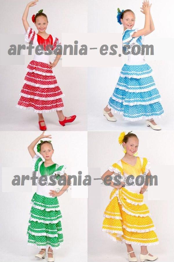 【新入荷】新色 子供用フラメンコドレス  10歳用 全4色
