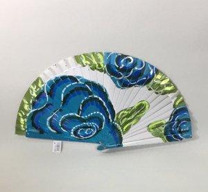 【再入荷】アバニコ手描き花 大輪6643白ブルー(保存カバーつき)
