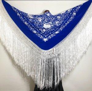 【新着】シルクマントン140�ブルー白白フレコ