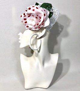 髪飾り3点セット ドット薔薇