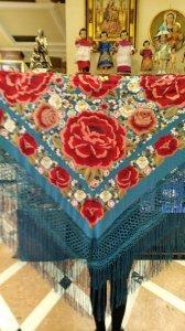●ご予約受付品●ボルダドス・フォロンダ社製 多色刺繍 シルク140cmx140cm