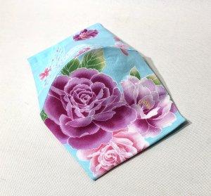 和柄マスクハンドメイド3D  薔薇