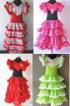 4段ボランテ 子供用フラメンコドレス  サイズ12 全4色