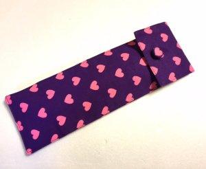 アバニコケース23-24�用 ハート柄 紫xピンク