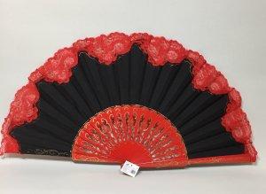 【再入荷】32cm透かし彫り金ライン ツートンレース黒赤アバニコ(保存カバー付き)