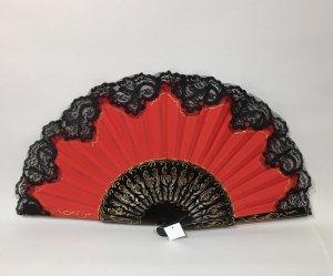 【再入荷】32cm透かし彫り金ライン ツートンレース赤黒アバニコ(保存カバー付き)