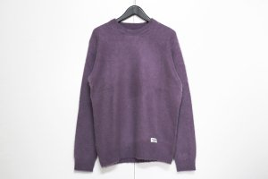 WACKOMARIA/ワコマリア/【送料無料】2019FW/MOHAIR CREW NECK SWEATER(PURPLE)/モヘアクルーネックセーター