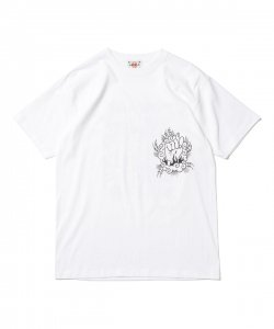 DELIVERY HELLS/デリバリーヘルズ/2020SS/DH×HQ Tee(WHITE)/TEEシャツ
