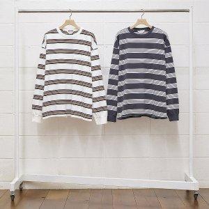 UNUSED/アンユーズド/【送料無料】2020SS/US1726-long sleeve border t-shirt(OFF WHITE)/ロングスリーブTシャツ