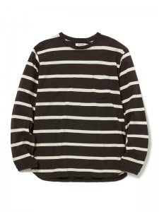 nonnative/ノンネイティブ/【送料無料】2020SS/DWELLER L/S TEE COTTON JERSEY BORDER(BLACK)/ボーダーカットソー
