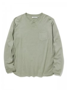 nonnative/ノンネイティブ/【送料無料】2020SS/DWELLER L/S TEE COTTON JERSEY OVERDYED(GRAY)/カットソー