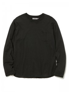 nonnative/ノンネイティブ/【送料無料】2020SS/DWELLER L/S TEE COTTON JERSEY OVERDYED(BLACK)/カットソー