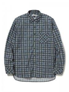 nonnative/ノンネイティブ/【送料無料】2020SS/DWELLER B.D. SHIRT COTTON TWILL PLAID PRINT(GRAY)/ボタンダウンシャツ