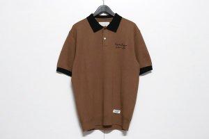 WACKOMARIA/ワコマリア/【送料無料】2020SS/KNIT PORO SHIRT(BROWN)/ニットポロシャツ