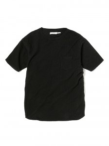 nonnative/ノンネイティブ/【送料無料】2020SUMMER/DWELLER S/S TEE COTTON WAFFLE OVERDYED(BLACK)/Tシャツ