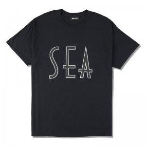 WIND AND SEA/ウィンダンシー/8th Collection/SEA (wavy) T-SHIRT(BLACK)/Tシャツ
