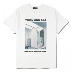 WIND AND SEA/ウィンダンシー/8th Collection/WDS (STARS AND STRIPES) PHOTO T-SHIRT(WHITE)/Tシャツ