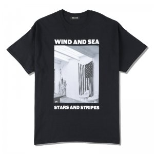 WIND AND SEA/ウィンダンシー/8th Collection/WDS (STARS AND STRIPES) PHOTO T-SHIRT(BLACK)/Tシャツ