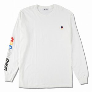 WIND AND SEA/ウィンダンシー/8th Collection/WDS(sail-boat) L/S T-SHIRT(WHITE)/ロングスリーブTシャツ