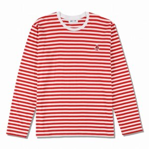 WIND AND SEA/ウィンダンシー/8th Collection/WDS(sail-boat) BORDER L/S T-SHIRT(RED)/ロングスリーブTシャツ