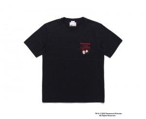 WACKOMARIA/ワコマリア/【送料無料】2020FW/UP IN SMOKE / CREW NECK T-SHIRT ( TYPE-4 )(BLACK)/Tシャツ