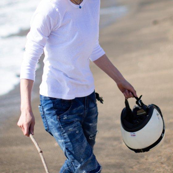 バイクTシャツ 白 長袖 「siro-long」