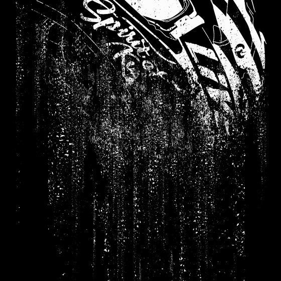 バイクTシャツ 黒 半袖/長袖 「karma-業力不滅-」