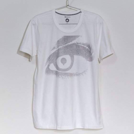 outlet バイクTシャツ 白 半袖 S 「eyes」<img class='new_mark_img2' src='https://img.shop-pro.jp/img/new/icons4.gif' style='border:none;display:inline;margin:0px;padding:0px;width:auto;' />