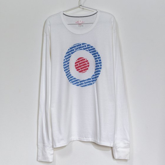outlet バイクTシャツ 白 長袖 XL 「target」<img class='new_mark_img2' src='https://img.shop-pro.jp/img/new/icons4.gif' style='border:none;display:inline;margin:0px;padding:0px;width:auto;' />