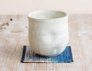 粉引えくぼフリーカップ